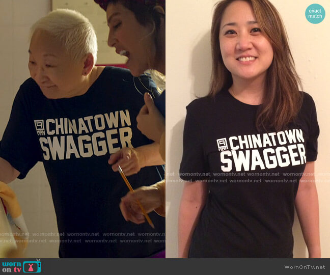9-Man Chinatown Swagger Tee worn by Grandma (Lori Tan Chinn) on Awkwafina is Nora From Queens