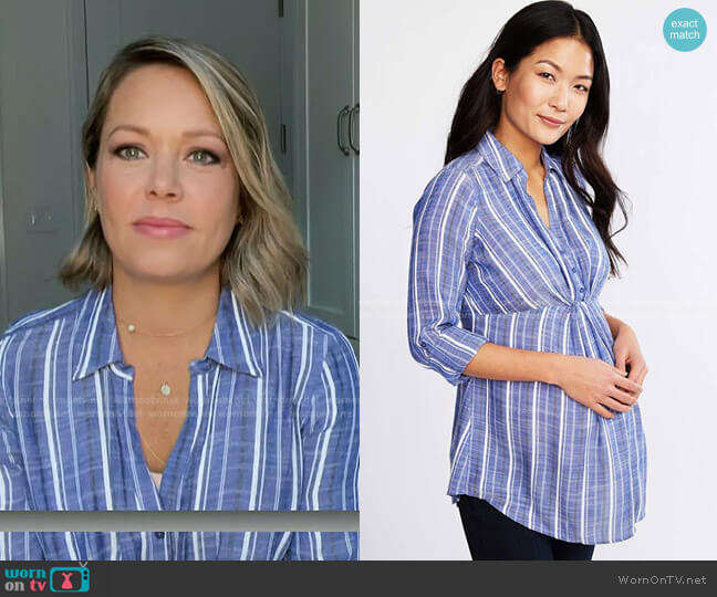 Convertible Sleeve Maternity Shirt by A Pea in the Pod worn by Dylan Dreyer  on Today