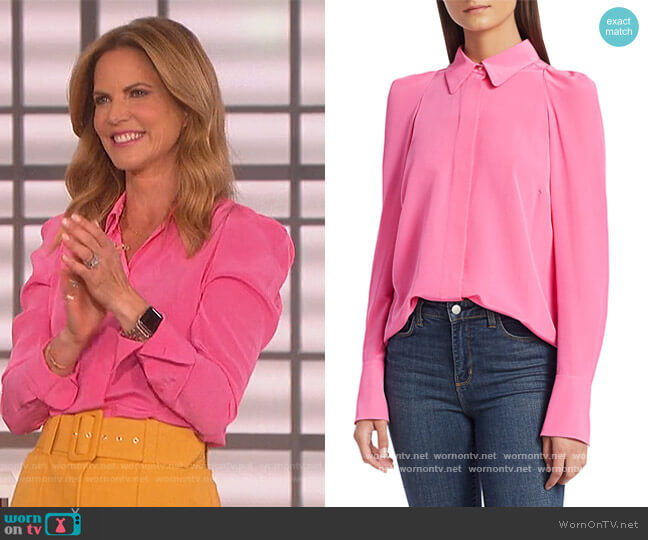 Carrera Blouse by A.L.C. worn by Natalie Morales on The Talk worn by Natalie Morales  on The Talk