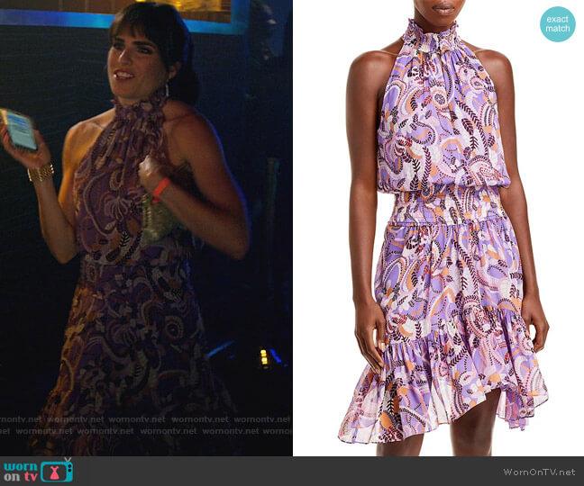 Cody Printed Dress by A.L.C. worn by Marina (Karla Souza) on Home Economics