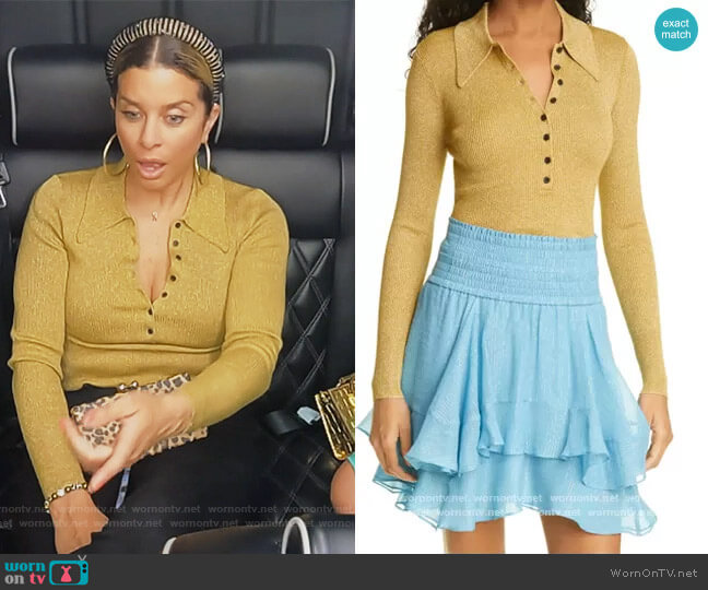 Lance Top by A.L.C. worn by Robyn Dixon  on The Real Housewives of Potomac