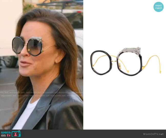 Rose Et Le Reve Sunglasses by Anna-Karin Karlsson worn by Kyle Richards  on The Real Housewives of Beverly Hills
