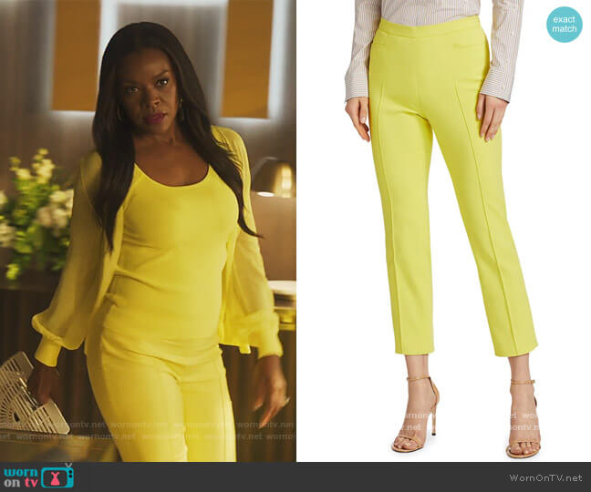 Franca Ankle Pants by Akris Punto worn by Leah Franklin-Dupont (Nadine Ellis) on Our Kind of People