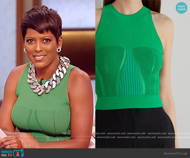 Stretch-knit tank by Alexander McQueen worn by Tamron Hall  on Tamron Hall Show
