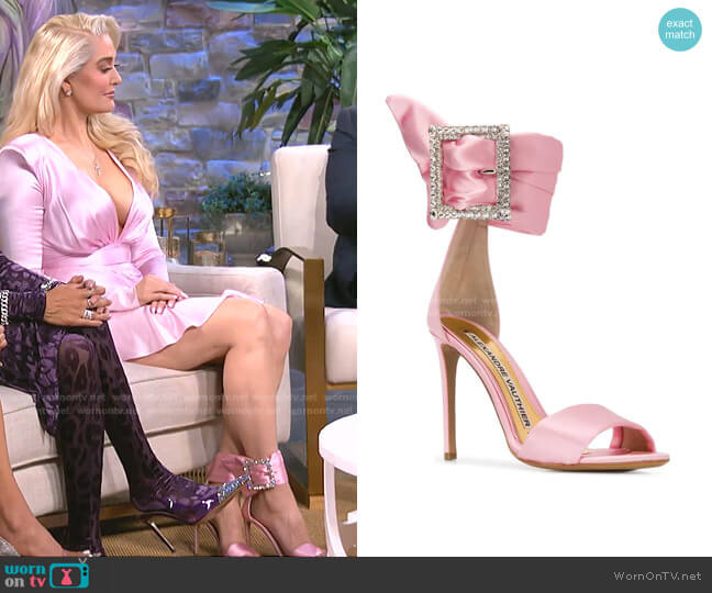 Yasmin Buckled Sandals by Alexandre Vauthier worn by Erika Jayne  on The Real Housewives of Beverly Hills