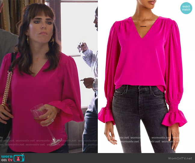 Puff Sleeve Top by Aqua worn by Marina (Karla Souza) on Home Economics