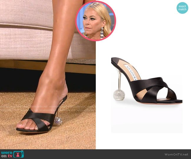 Yes Darling Sandals by Aquazzura worn by Sutton Stracke  on The Real Housewives of Beverly Hills