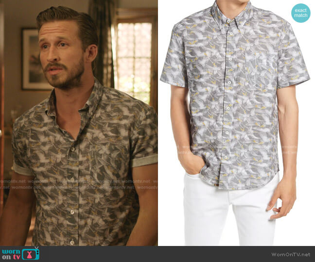 Pelican Sketch Button-Down Shirt by Billy Reid worn by Adam Huber on Dynasty