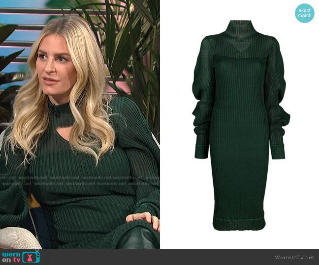 Cutout Ribbed Dress by Bottega Veneta worn by Morgan Stewart  on E! News
