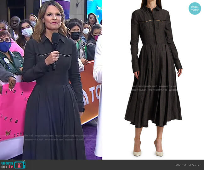 Tomi Linen Fit & Flare Dress by Brock Collection worn by Savannah Guthrie  on Today