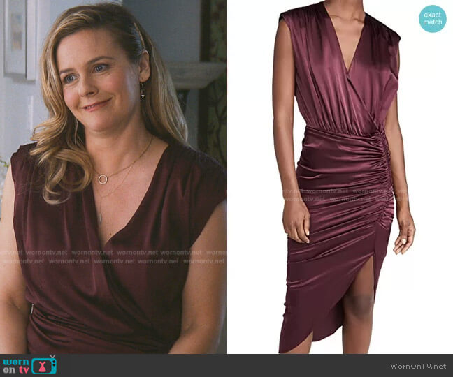 Casela Dress by Veronica Beard worn by Alicia Silverstone on The Baby-Sitters Club