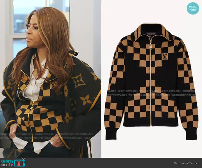 Checkerboard Cardigan by Louis Vuitton worn by Mary Cosby  on The Real Housewives of Salt Lake City