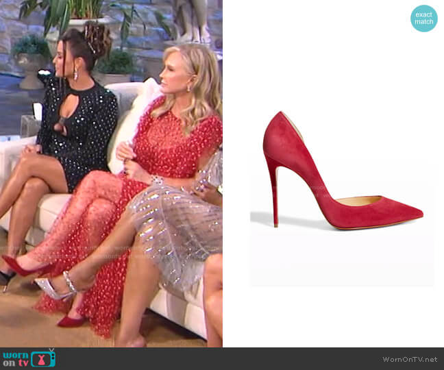 Iriza Pumps by Christian Louboutin worn by Kathy Hilton  on The Real Housewives of Beverly Hills