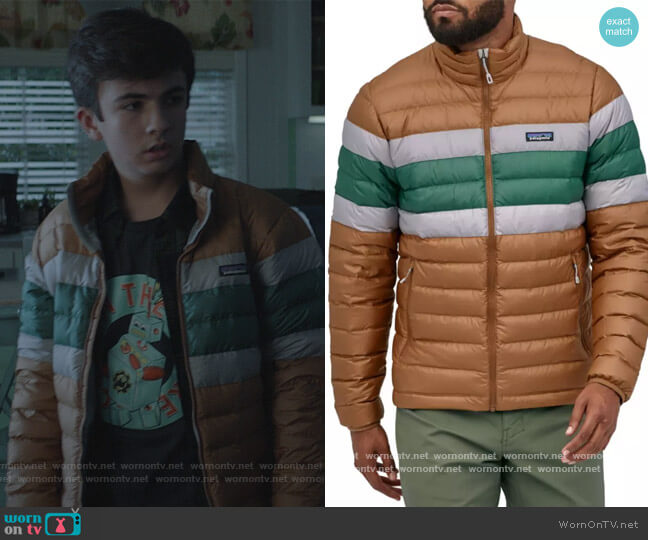 Down Sweater Jacket by Patagonia worn by Trae Romano on Stargirl