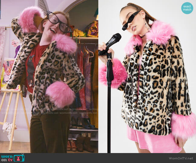 Sass Attack Faux Fur Coat by dELiA*s by Dolls Kill worn by Mallory Pike (Vivian Watson) on The Baby-Sitters Club