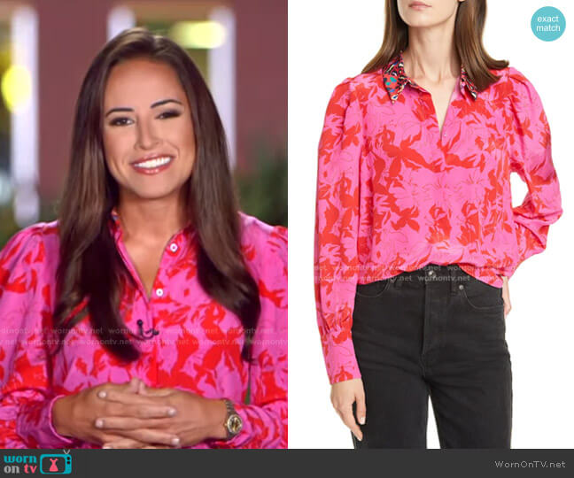Dominique Top by Tanya Taylor worn by Kaylee Hartung on GMA
