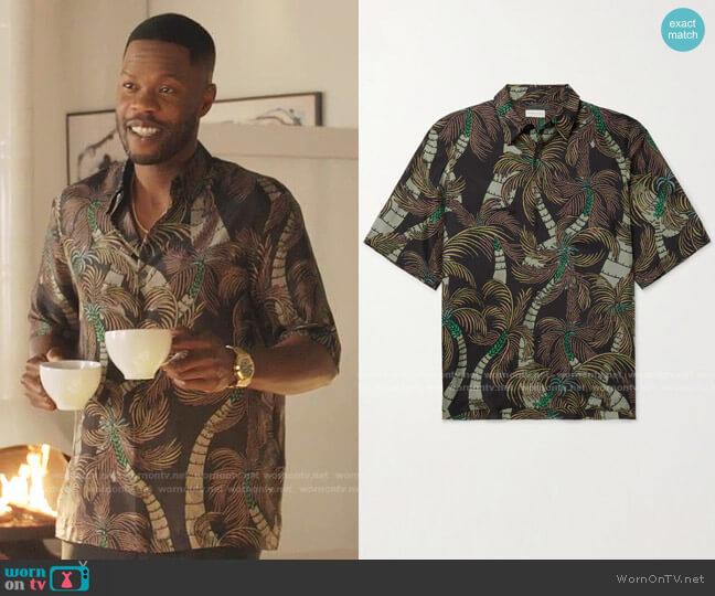 Printed Silk Shirt by Dries Van Noten worn by Jeff Colby (Sam Adegoke) on Dynasty