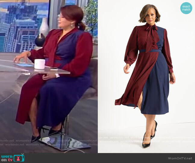 Colorblocked Dress by Eloquii worn by Ana Navarro  on The View