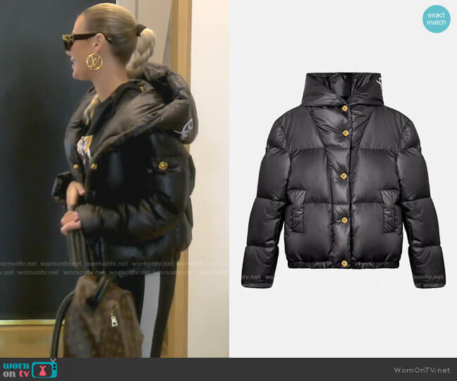Gv Signature Puffer Jacket by Versace worn by Dorit Kemsley  on The Real Housewives of Beverly Hills