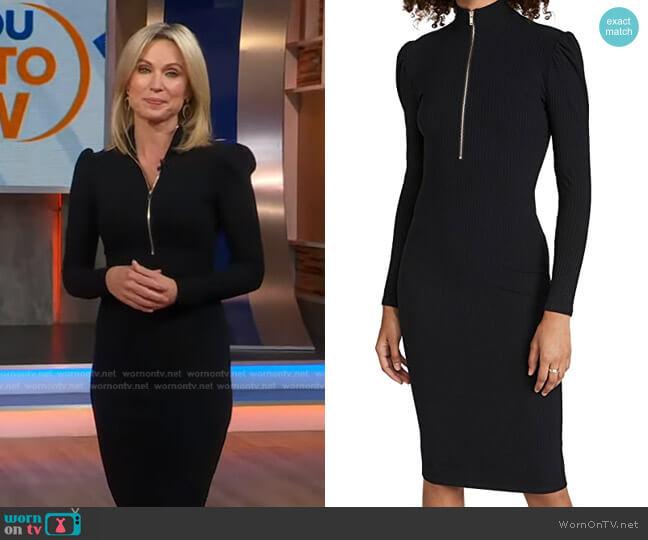 Oris Zipper Dress by Generation Love worn by Amy Robach  on Good Morning America