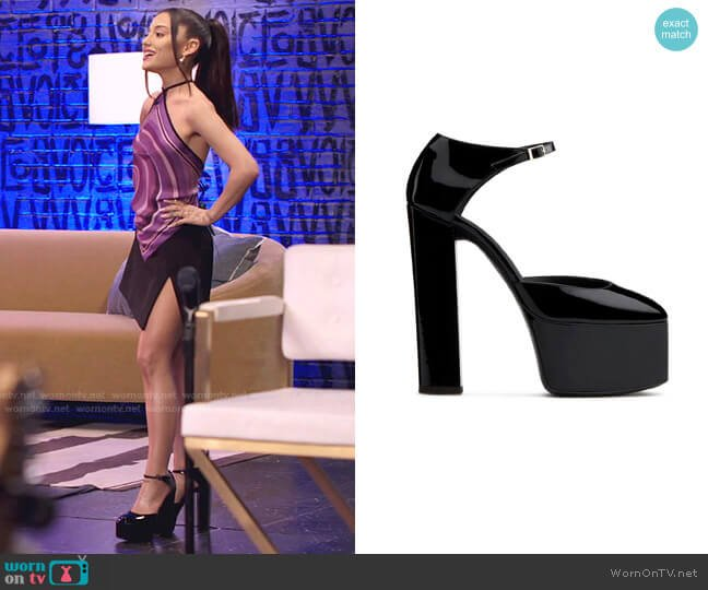 Bebe Sandals by Giuseppe Zanotti worn by Ariana Grande  on The Voice