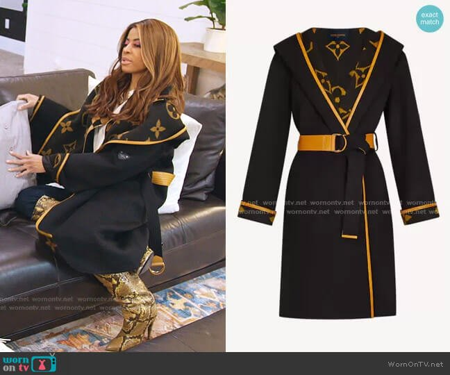 Hooded Wrap Coat by Louis Vuitton worn by Mary Cosby  on The Real Housewives of Salt Lake City