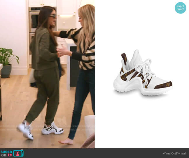 LV Archlight Sneaker by Louis Vuitton worn by Lisa Barlow  on The Real Housewives of Salt Lake City