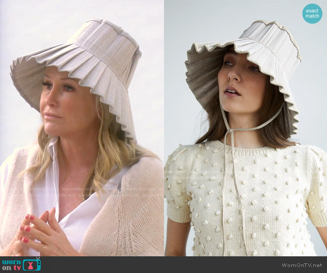 Capri Hat by Lorna Murray worn by Kathy Hilton  on The Real Housewives of Beverly Hills