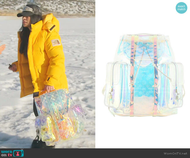 PVC Monogram Christopher Backpack by Louis Vuitton worn by Jen Shah  on The Real Housewives of Salt Lake City
