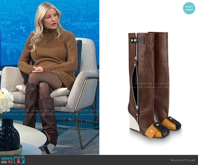 Patti Wedge High Boot by Louis Vuitton worn by Morgan Stewart  on E! News