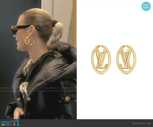 Louise Hoop Earrings by Louis Vuitton worn by Dorit Kemsley  on The Real Housewives of Beverly Hills