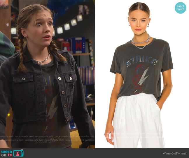 Wolf Classic Tee by Lovers and Friends worn by Presley (Jayden Bartels) on Side Hustle