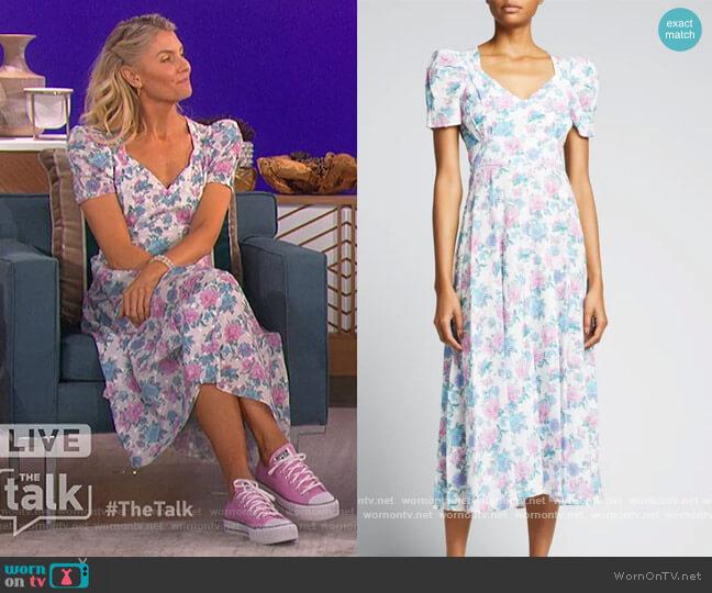 Hutchinson Dress by LoveShackFancy worn by Amanda Kloots  on The Talk