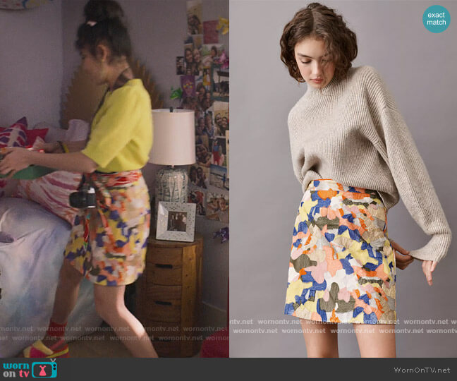 Maeve Sigourney Mini Skirt by Maeve worn by Claudia Kishi (Momona Tamada) on The Baby-Sitters Club