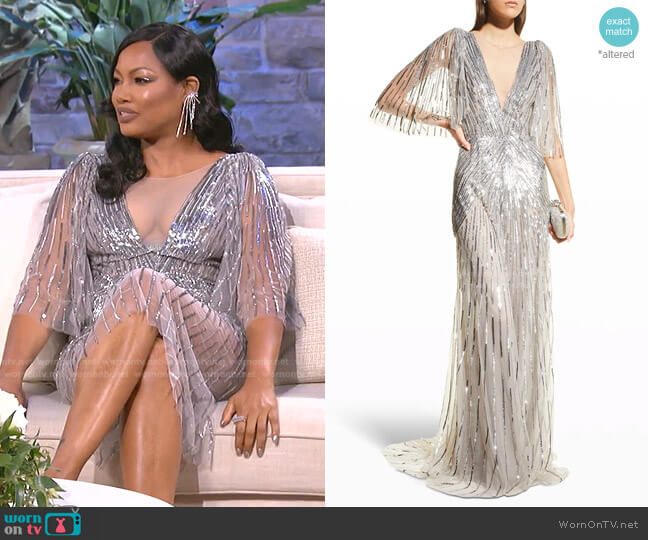 Sequin Illusion Gown by Monique Lhuillier (shortened) worn by Garcelle Beauvais  on The Real Housewives of Beverly Hills