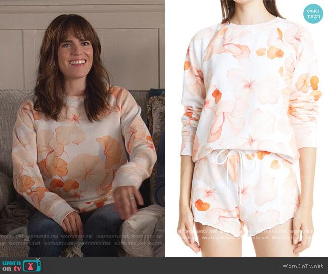 Daytona Sweatshirt by Paige worn by Marina (Karla Souza) on Home Economics