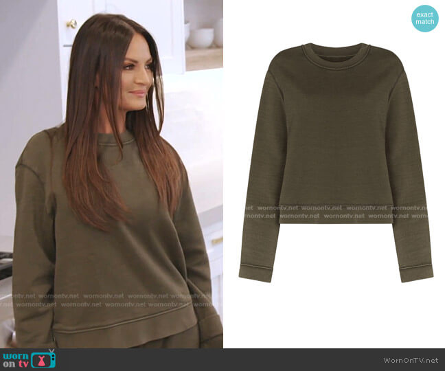 Emilia Cotton Jersey Sweatshirt by RtA worn by Lisa Barlow  on The Real Housewives of Salt Lake City