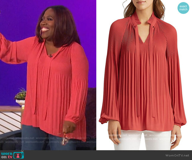 Pleated Blouse by Ralph Lauren worn by Sheryl Underwood  on The Talk