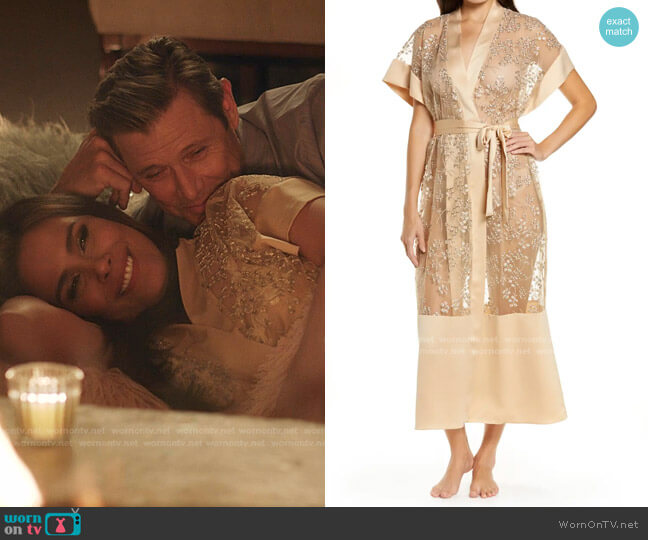 Soleada Embroidered Robe by Rya Collection worn by Cristal Jennings (Daniella Alonso) on Dynasty