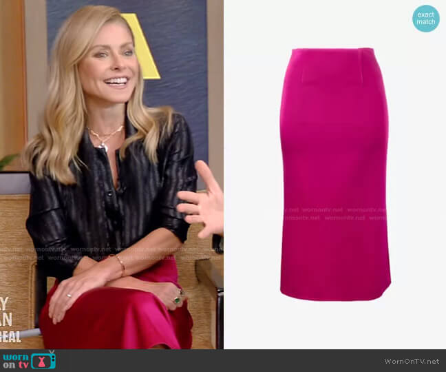 Salway Skirt by Roland Mouret worn by Kelly Ripa  on Live with Kelly & Ryan