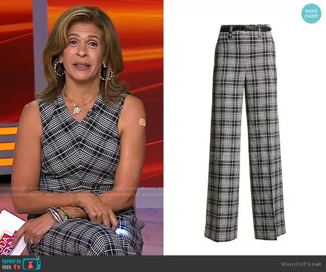 Sawyer Plaid Pants by Tanya Taylor worn by Hoda Kotb  on Today