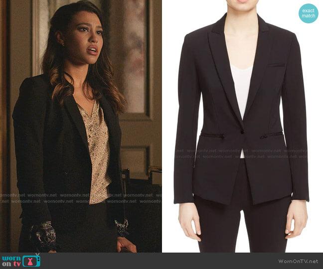 Scuba Jacket by Veronica Beard worn by Kara Royster on Dynasty