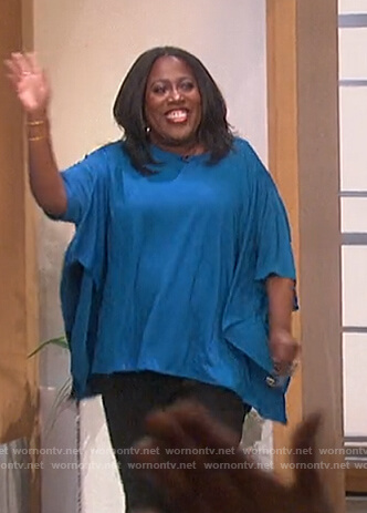Sheryl's blue cape top on The Talk