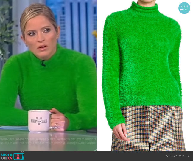 Compact FFF Turtleneck by Stella McCartney worn by Sara Haines  on The View