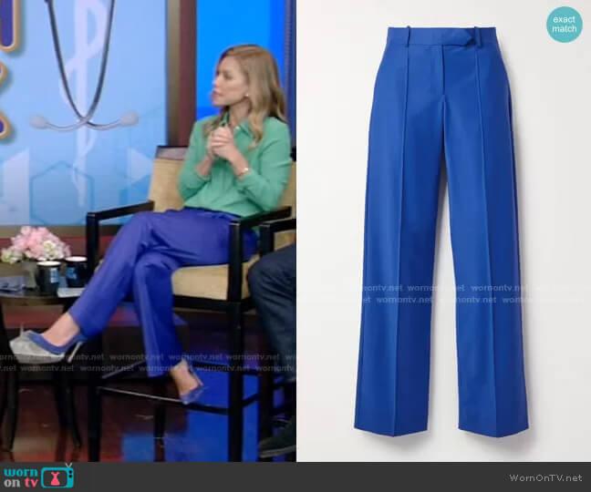 Straight-Leg Pants by Aleksandre Akhalkatsishvili worn by Kelly Ripa  on Live with Kelly & Ryan
