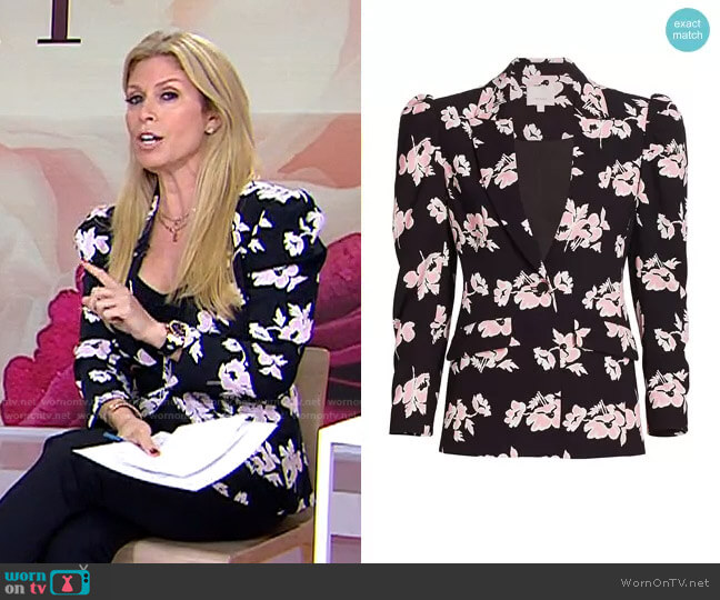 Suki Ikat Floral Blazer by Cinq a Sept worn by Jill Martin  on Today