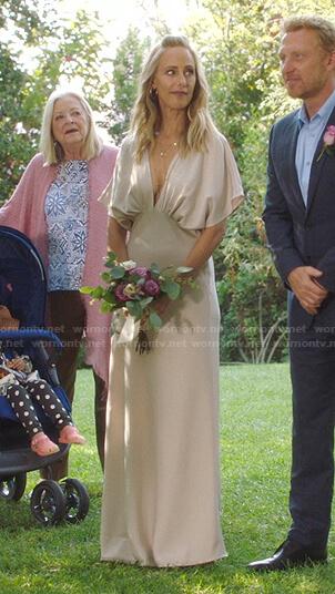 Teddy's wedding dress on Greys Anatomy