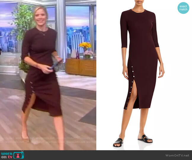 Side Slit Midi Dress by Theory worn by Sara Haines  on The View