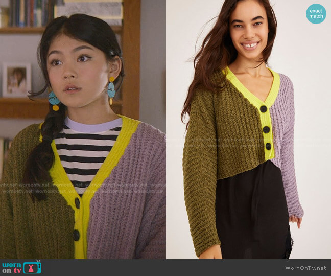 Ashlyn Batwing Cropped Cardigan by Urban Outfitters worn by Claudia Kishi (Momona Tamada) on The Baby-Sitters Club