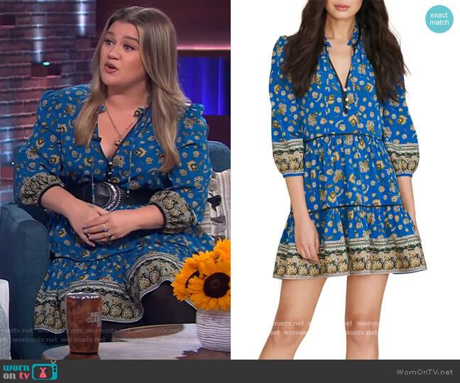 Hawken Minidress by Veronica Beard worn by Kelly Clarkson  on The Kelly Clarkson Show